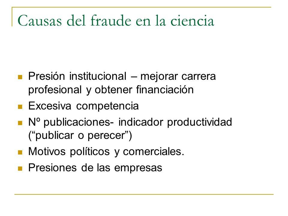 Causas del fraude en la ciencia