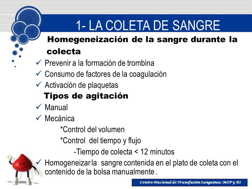 Homegeneización de la sangre durante la