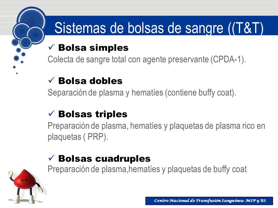 Sistemas de bolsas de sangre ((T&T)