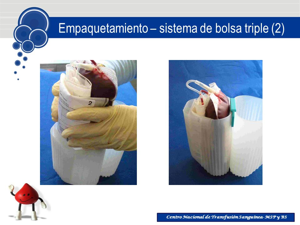 Empaquetamiento – sistema de bolsa triple (2)