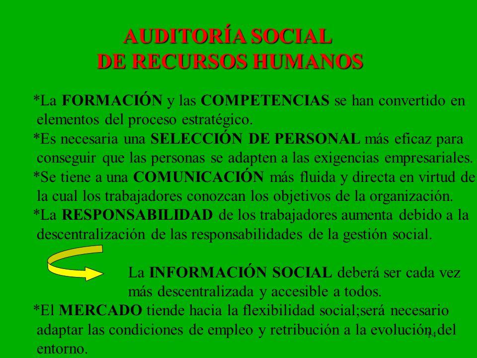 AUDITORÍA SOCIAL DE RECURSOS HUMANOS