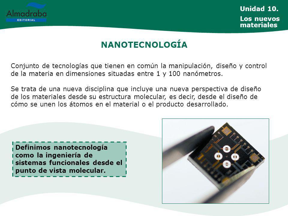NANOTECNOLOGÍA Unidad 10. Los nuevos materiales