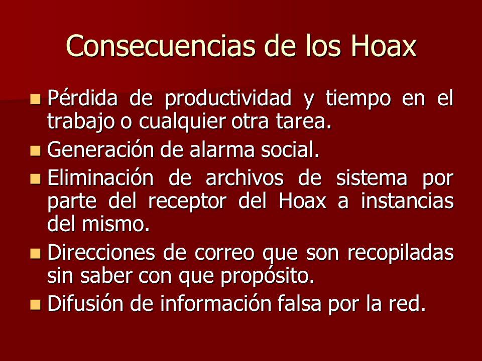 Consecuencias de los Hoax