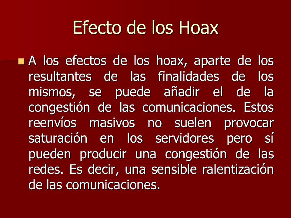 Efecto de los Hoax
