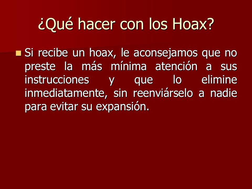 ¿Qué hacer con los Hoax