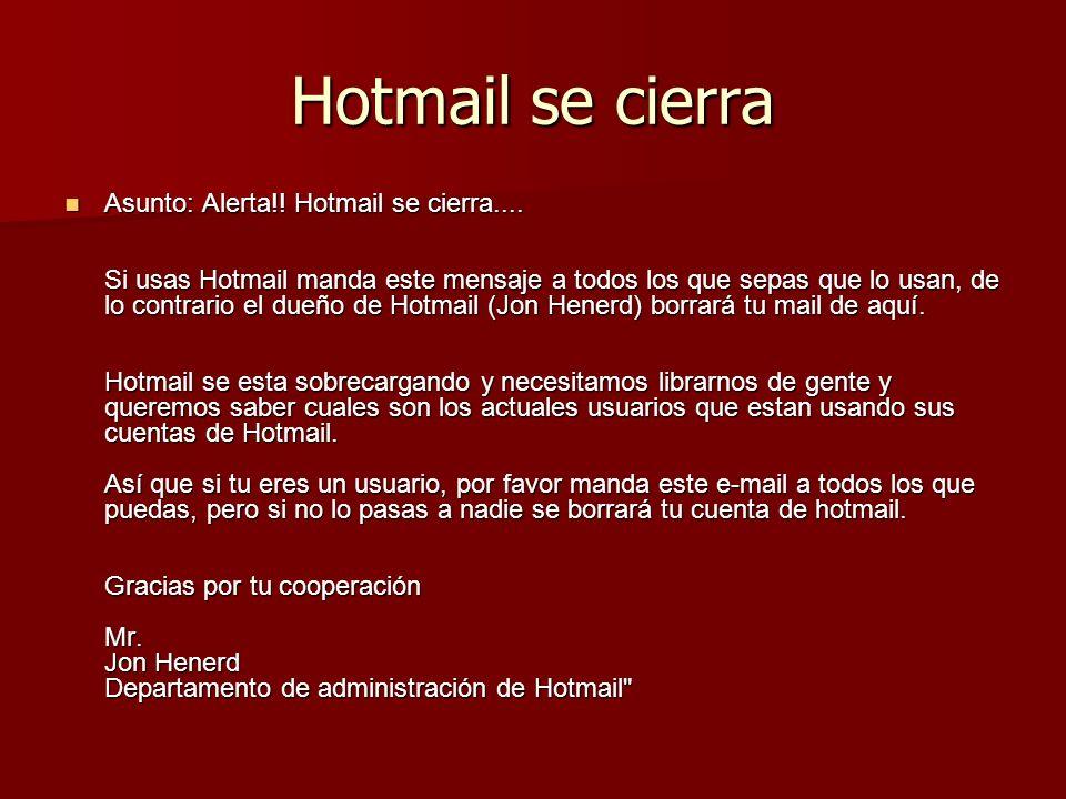 Hotmail se cierra