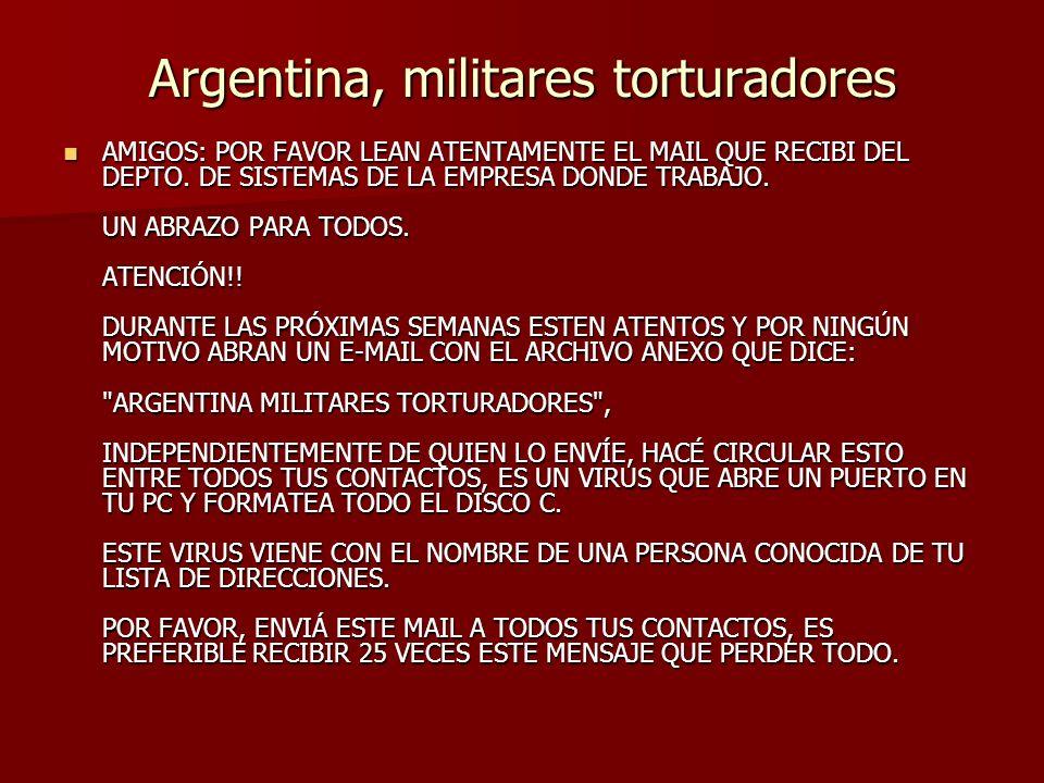 Argentina, militares torturadores