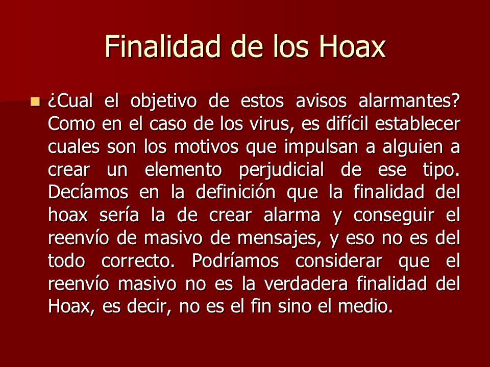 Finalidad de los Hoax