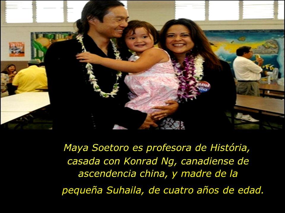Maya Soetoro es profesora de História,