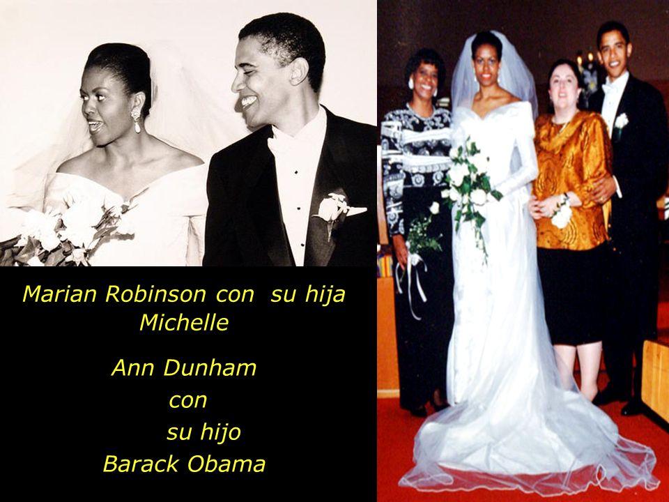 Marian Robinson con su hija Michelle