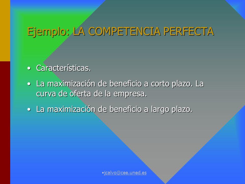 Ejemplo: LA COMPETENCIA PERFECTA