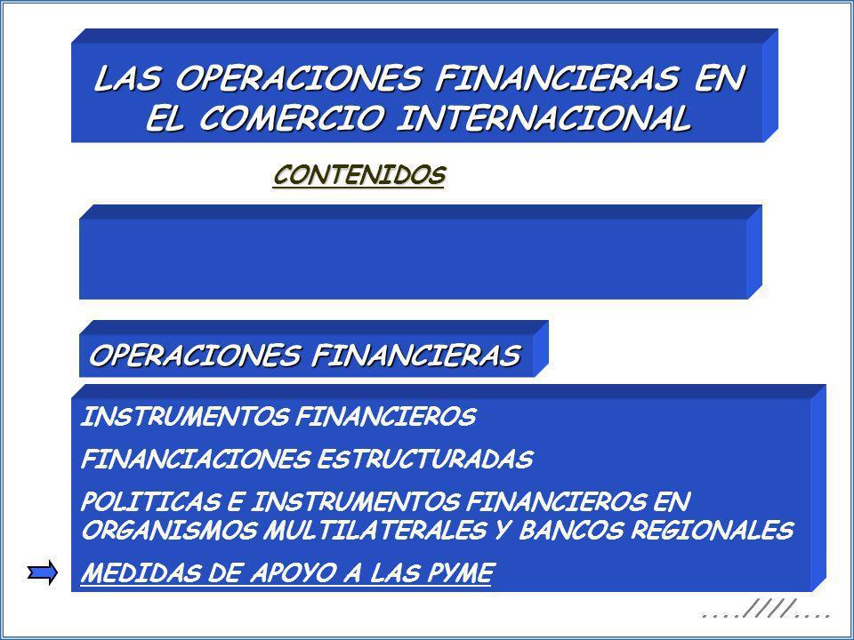LAS OPERACIONES FINANCIERAS EN EL COMERCIO INTERNACIONAL