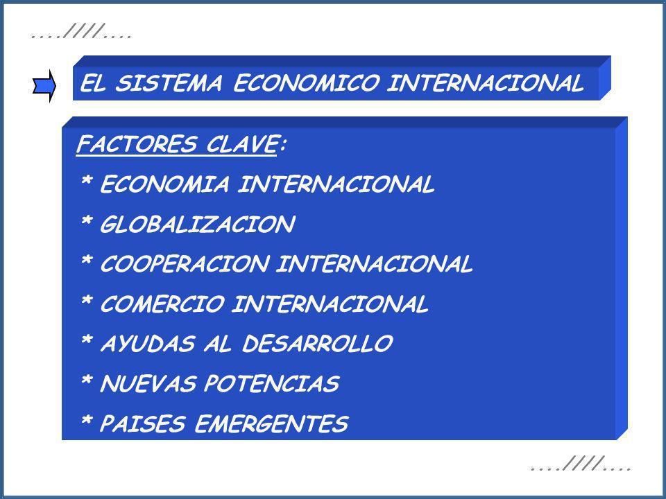 EL SISTEMA ECONOMICO INTERNACIONAL