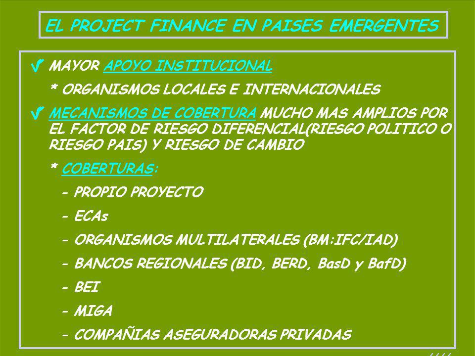 EL PROJECT FINANCE EN PAISES EMERGENTES