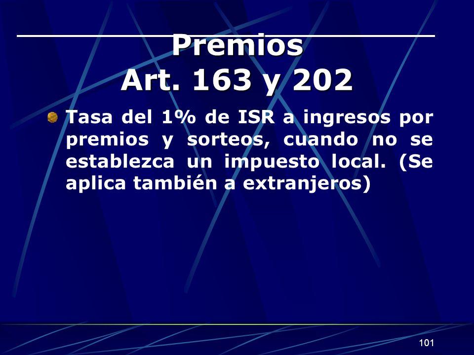 Premios Art. 163 y 202