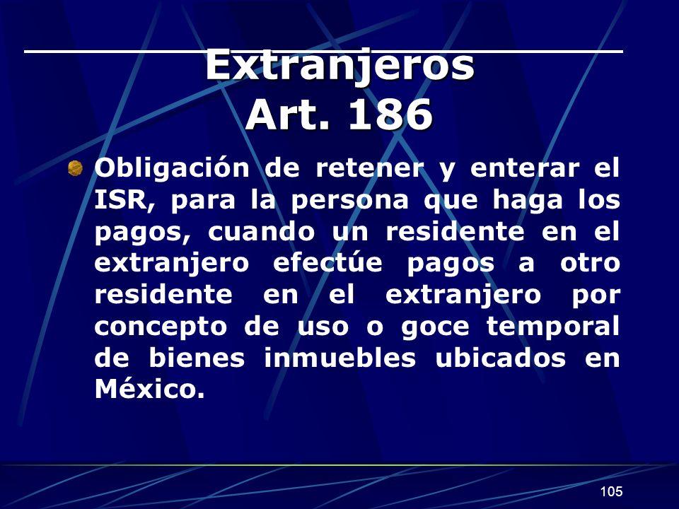 Extranjeros Art. 186