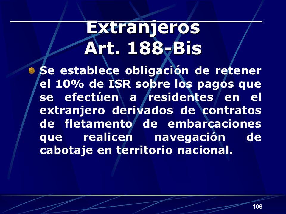 Extranjeros Art. 188-Bis