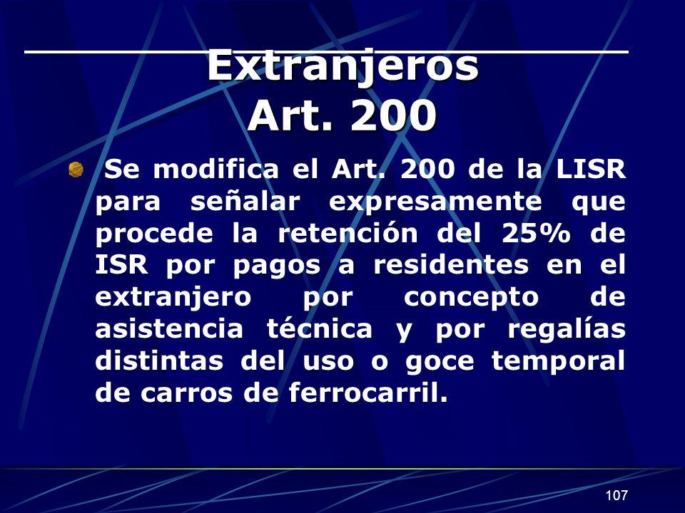 Extranjeros Art. 200