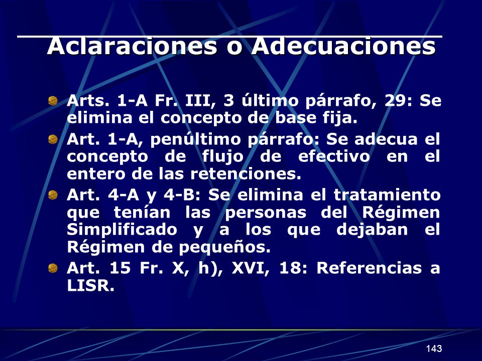 Aclaraciones o Adecuaciones