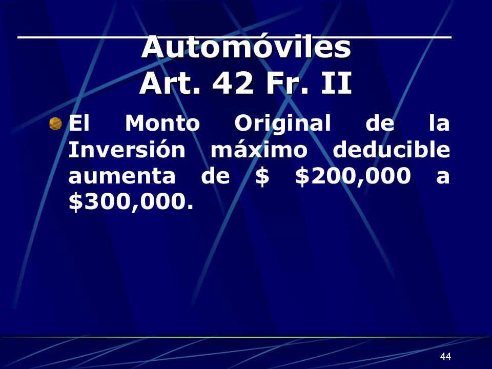 Automóviles Art. 42 Fr.