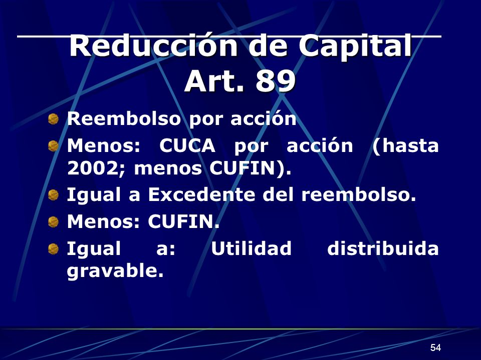 Reducción de Capital Art. 89