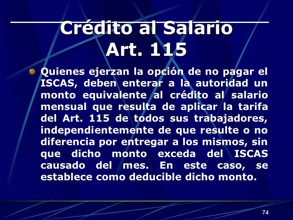 Crédito al Salario Art. 115