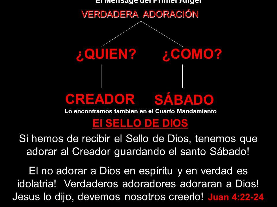 ¿QUIEN ¿COMO CREADOR SÁBADO El SELLO DE DIOS