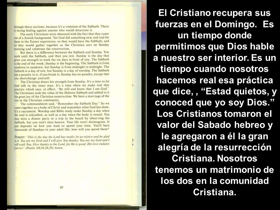 El Cristiano recupera sus fuerzas en el Domingo