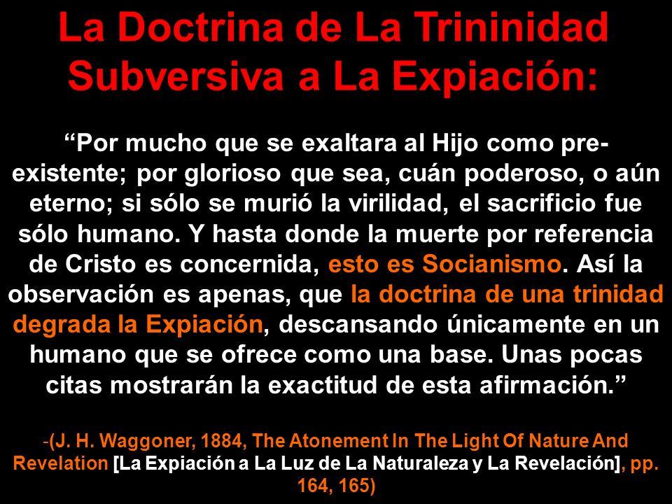 La Doctrina de La Trininidad Subversiva a La Expiación: