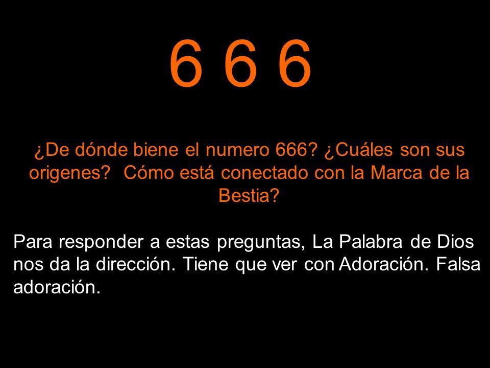 6 6 6 ¿De dónde biene el numero 666 ¿Cuáles son sus origenes Cómo está conectado con la Marca de la Bestia