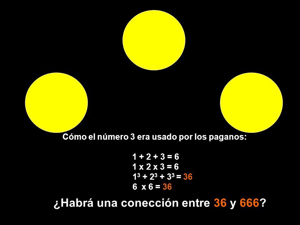 ¿Habrá una conección entre 36 y 666