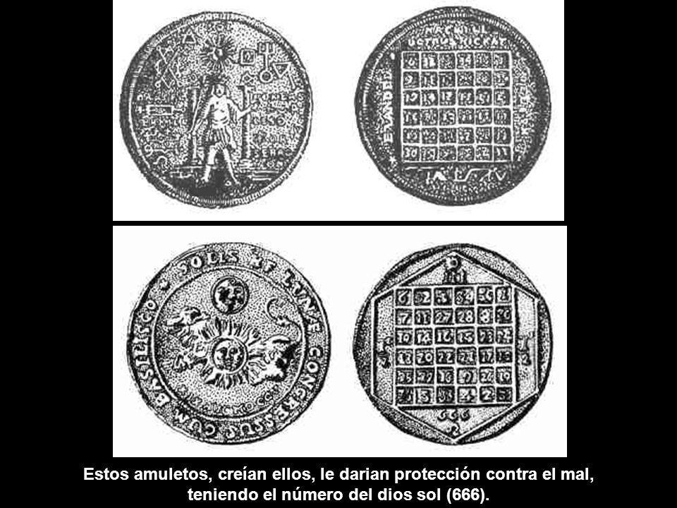 Estos amuletos, creían ellos, le darian protección contra el mal,