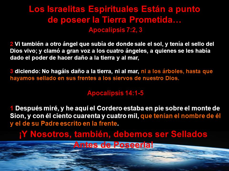 Los Israelitas Espirituales Están a punto
