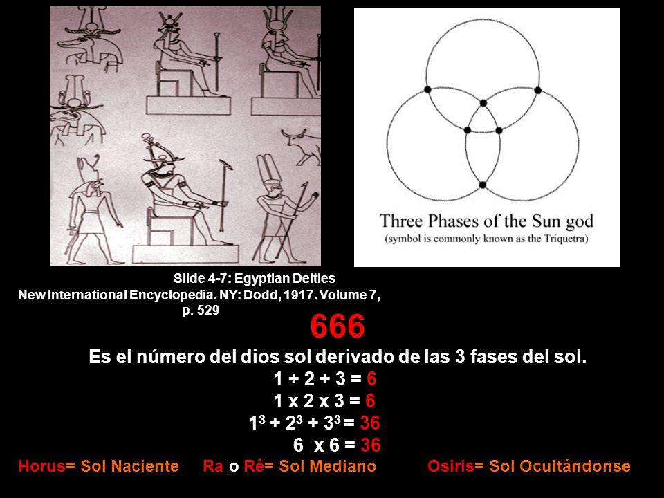 666 Es el número del dios sol derivado de las 3 fases del sol.