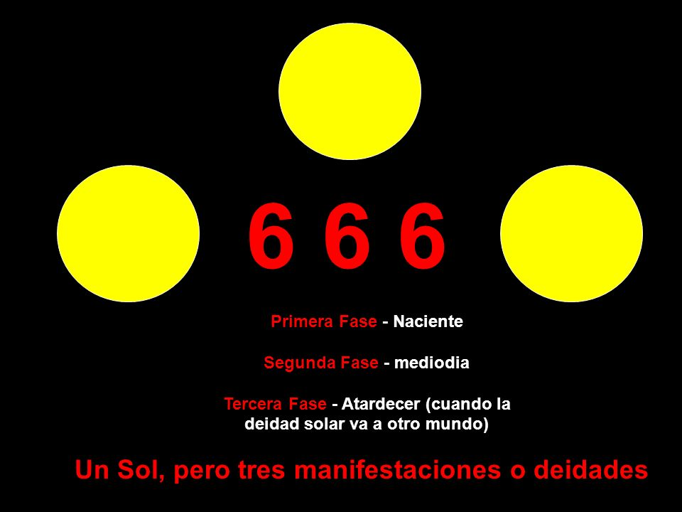 6 6 6 Un Sol, pero tres manifestaciones o deidades