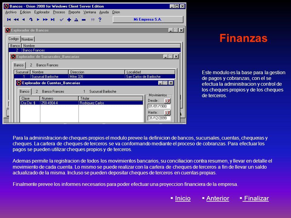 Finanzas Inicio Anterior Finalizar