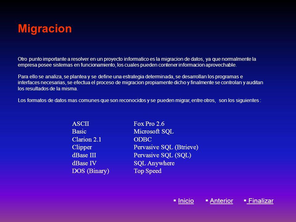 Migracion ASCII Basic Clarion 2.1 Clipper dBase III dBase IV