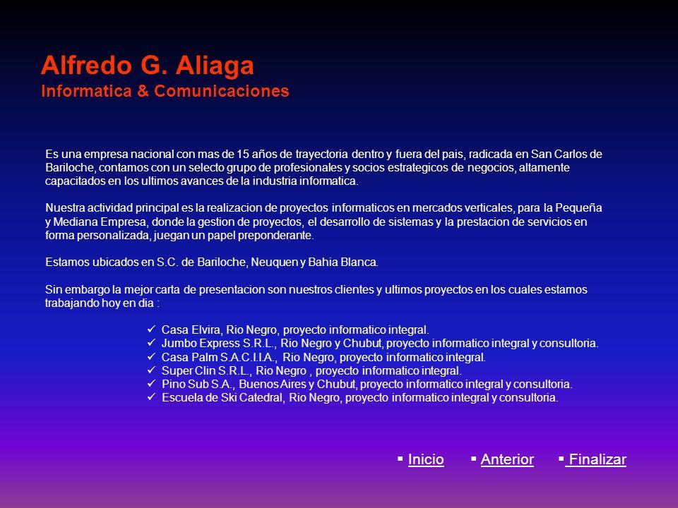 Alfredo G. Aliaga Informatica & Comunicaciones
