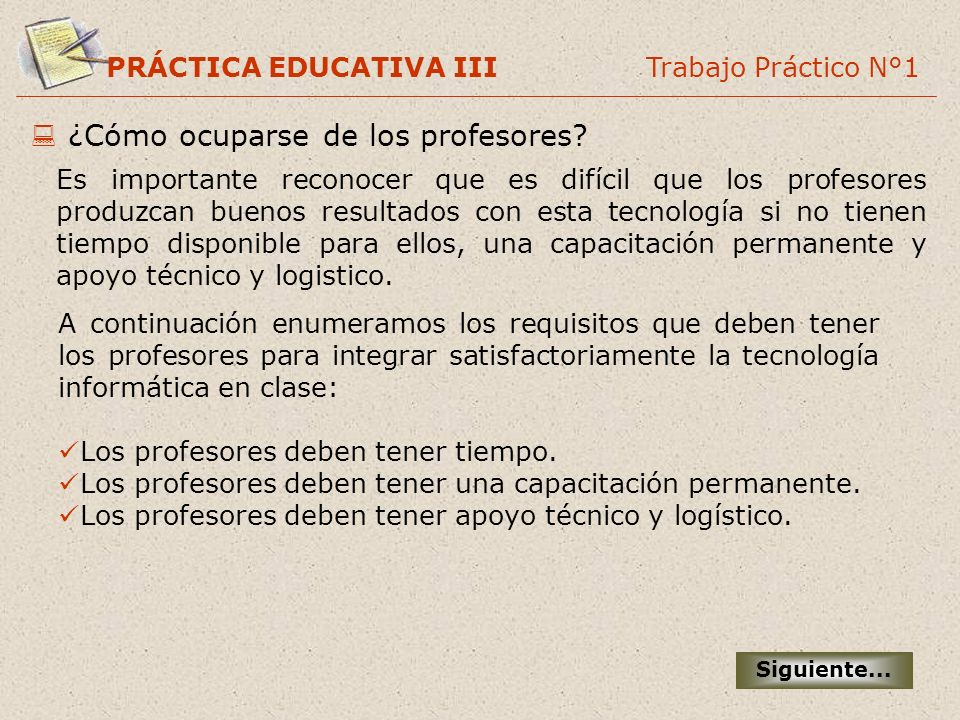 ¿Cómo ocuparse de los profesores