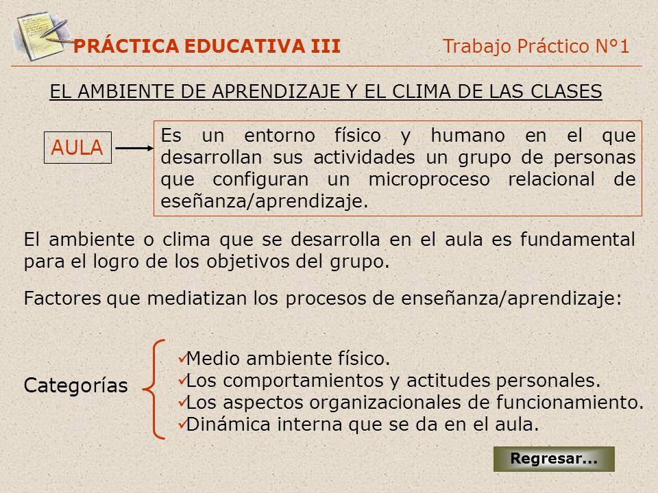AULA Categorías PRÁCTICA EDUCATIVA III Trabajo Práctico N°1