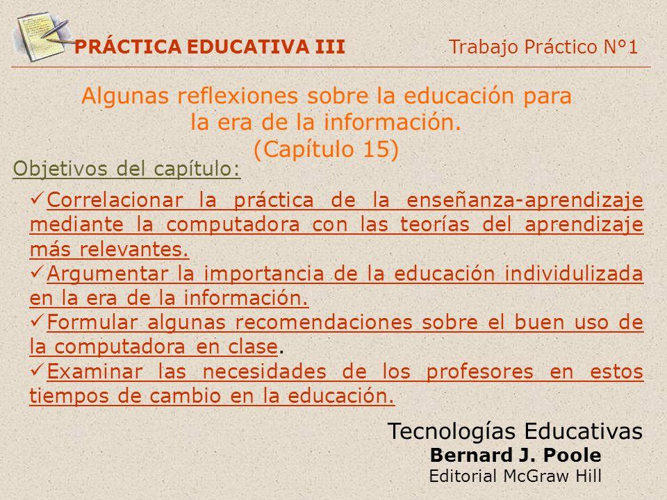 Algunas reflexiones sobre la educación para la era de la información.