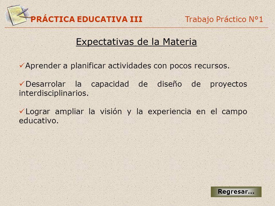 Expectativas de la Materia