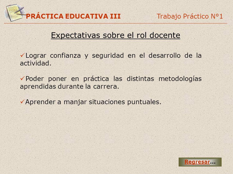 Expectativas sobre el rol docente