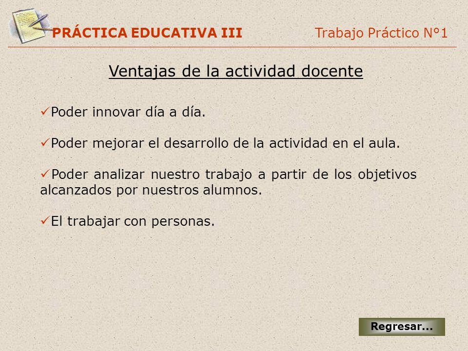 Ventajas de la actividad docente