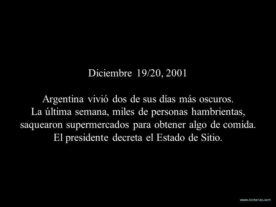 Diciembre 19/20, 2001 Argentina vivió dos de sus días más oscuros