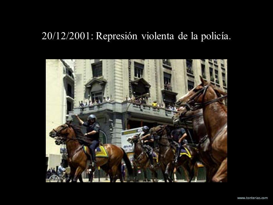 20/12/2001: Represión violenta de la policía.