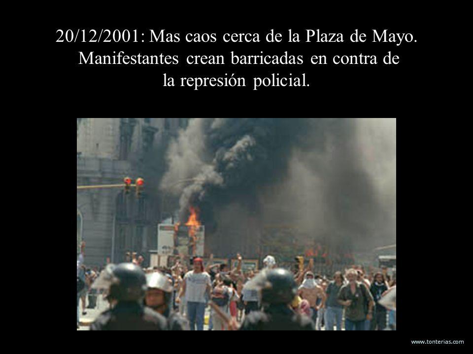 20/12/2001: Mas caos cerca de la Plaza de Mayo