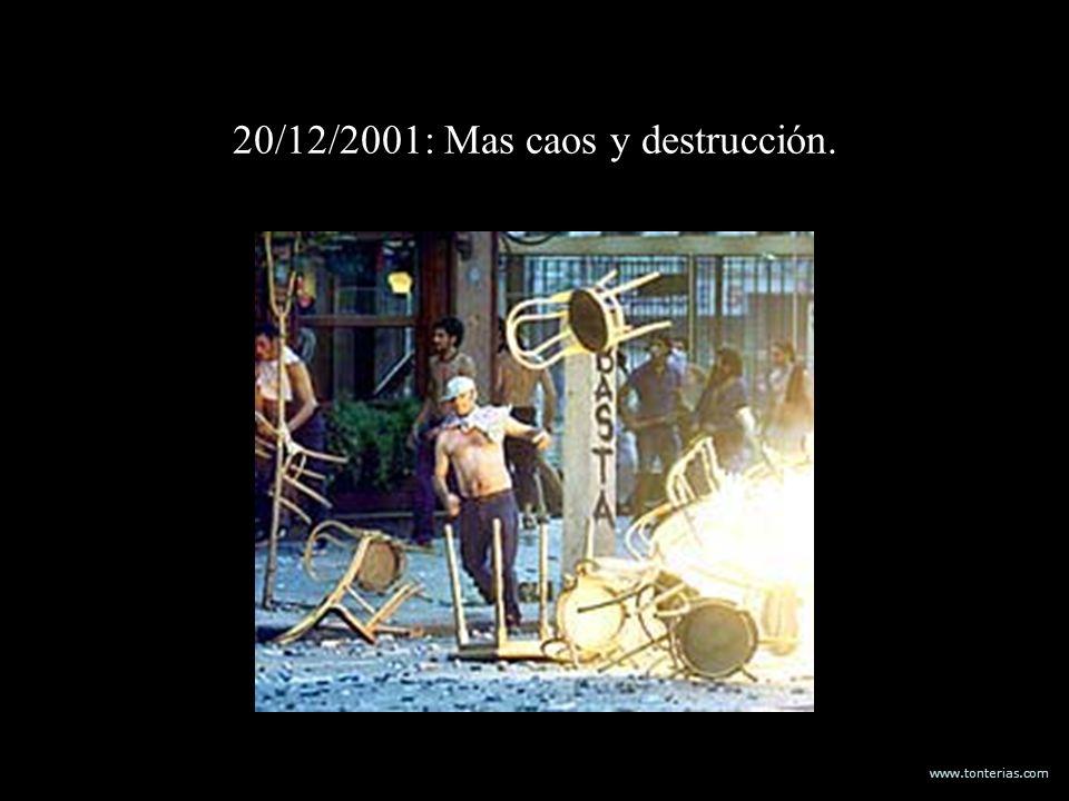 20/12/2001: Mas caos y destrucción.