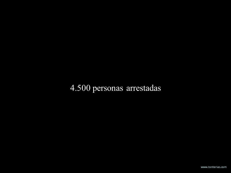 4.500 personas arrestadas