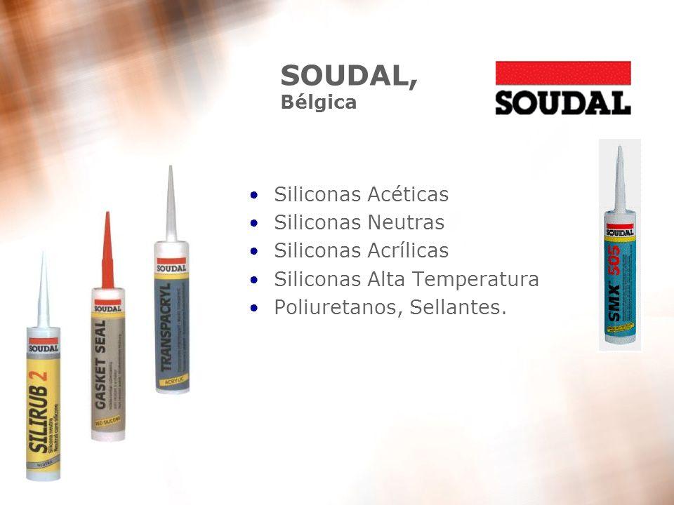 SOUDAL, Bélgica Siliconas Acéticas Siliconas Neutras